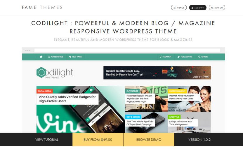 wordpress, wordpress theme, modern, blog, responsive theme, magazine