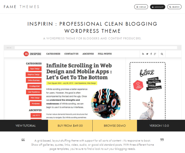 wordpress, wordpress theme, blog, professional wordpress theme, clean blogging theme, professional