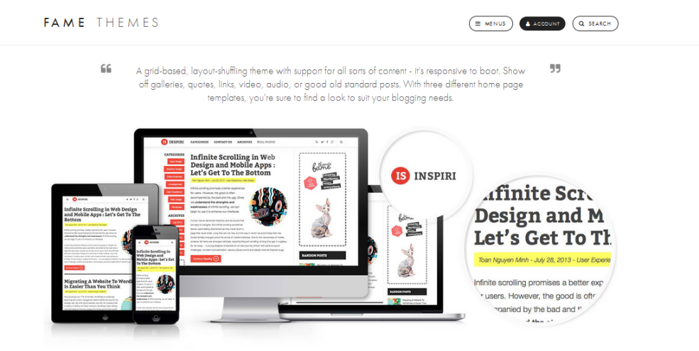 inspirin - wordpress, wordpress theme, blog, professional wordpress theme, clean blogging theme, professional