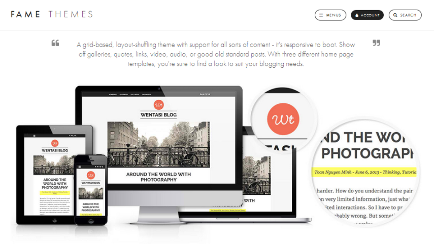 wordpress, wordpress theme, responsive theme, amazing wordpress theme, tumblog, amazing